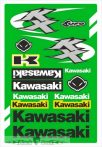 Kawasaki táblás matrica.