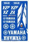 Yamaha táblás matrica.